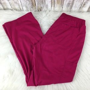Koi Medium Hot Pink Scrub Pants 719 Adele lace up